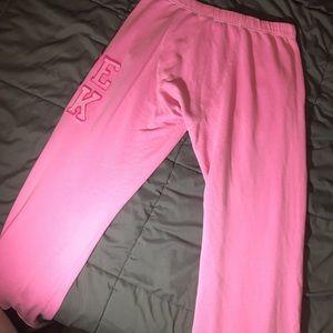 PINK Victoria's Secret Intimates & Sleepwear - Hot Pink VS PINK Boyfriend Sweatpants